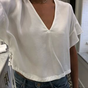 Zara blouse with ties on side